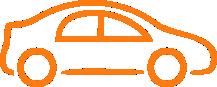 automotive car icon orange
