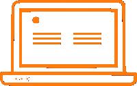 computer electronics icon orange