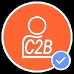 icono de consumidor a empresa c2b