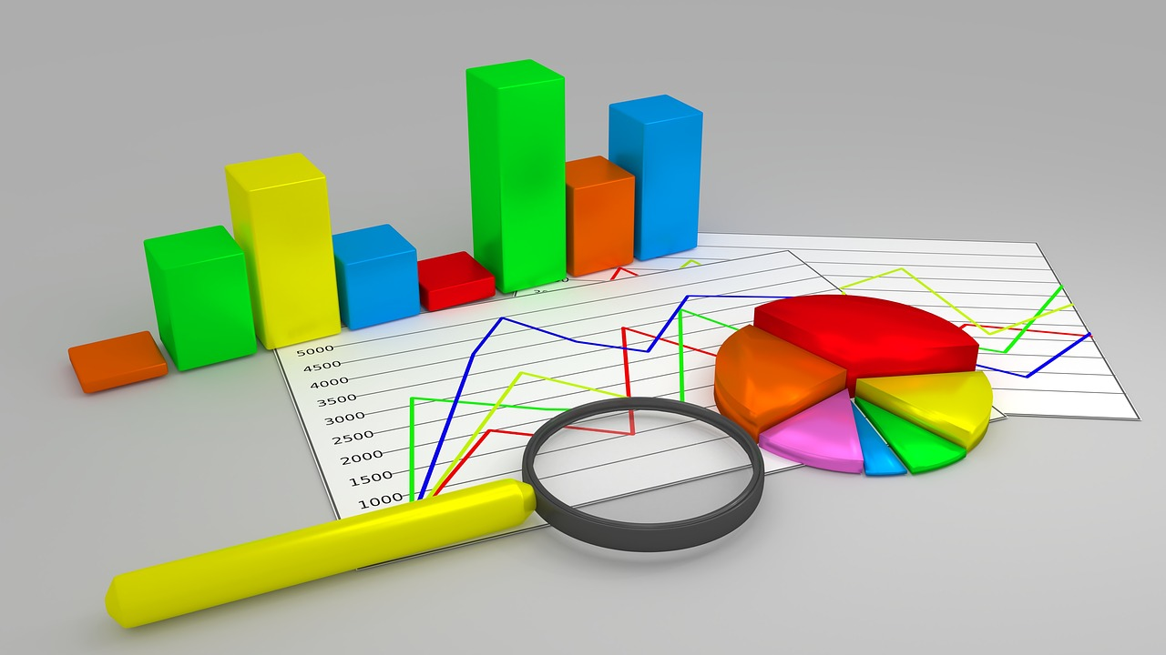 graphs and charts that display analytics